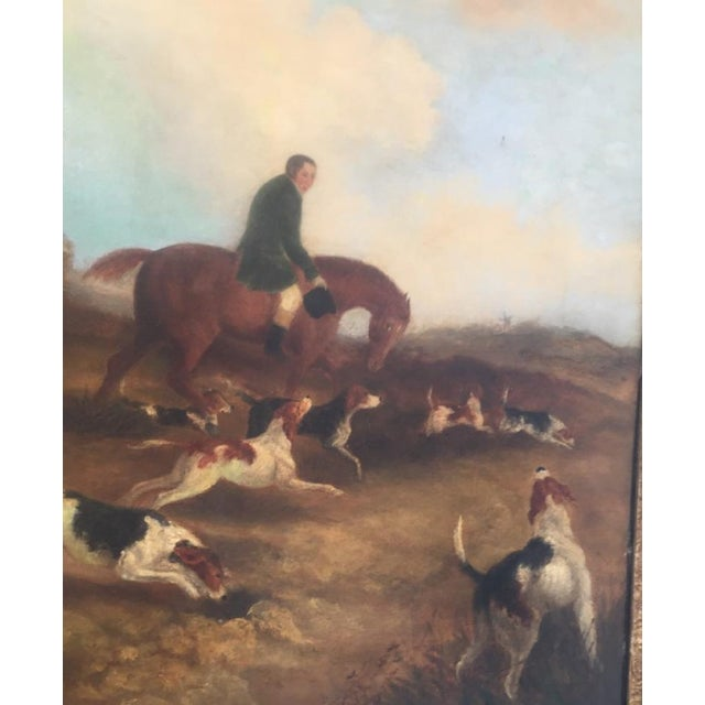 Mid 19th Century English Hunt Scene Painting For Sale - Image 5 of 6