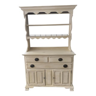 Ethan Allen Yellow Hardwood Hutch