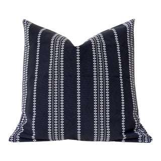 Black Boho Stripe Pillow Cover 16x16 For Sale