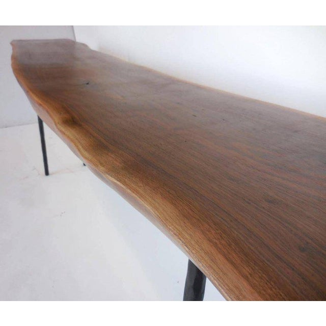 Not Yet Made - Made To Order Dos Gallos Studio Black Walnut Console With Iron Legs For Sale - Image 5 of 9