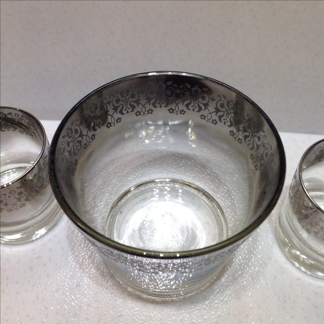 Mid-Century Silver Ombré Cocktail Set - Set of 3 For Sale In Chicago - Image 6 of 7