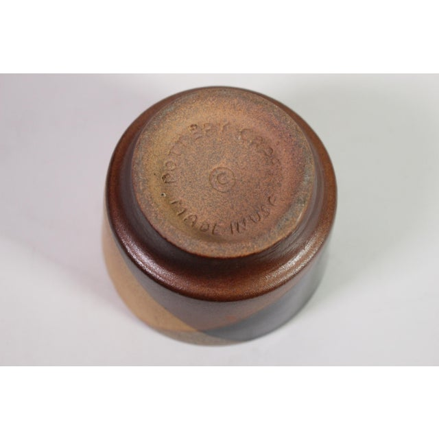 1970's David Cressey Flame Glaze Studio Pottery Decanter & Cup Set by Pottery Craft - Set of 5 For Sale In Los Angeles - Image 6 of 7