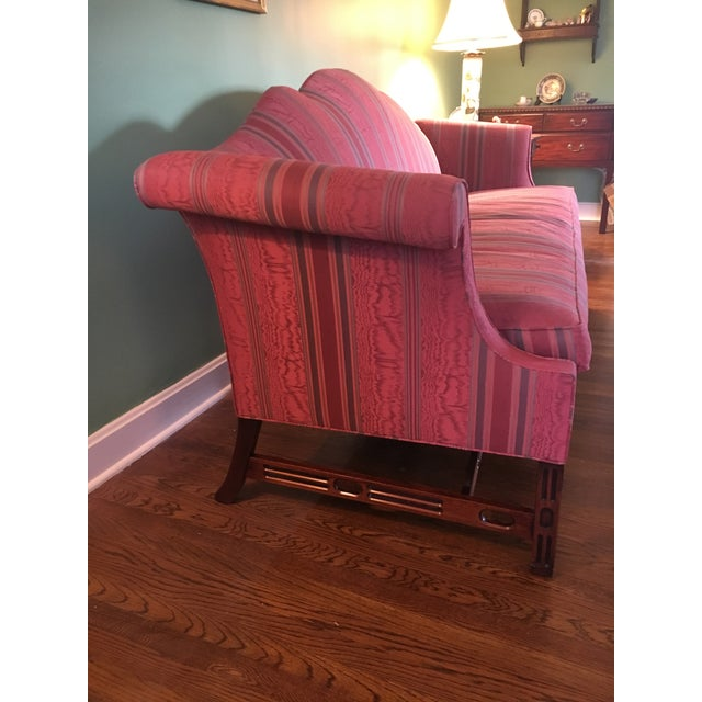 "Southwood camel back couch, great condition. Usual wear and tear. 40""high x 87""wide x 32"" deep. Seat is 22"" high x 72""wide..."