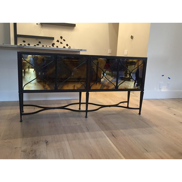 A Caracol Furniture; Italian Smoke & Mirror Console For Sale - Image 13 of 13