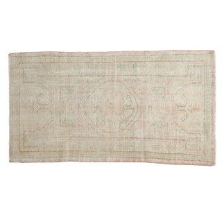 "Vintage Distressed Oushak Rug - 2'5"" X 4'3"" For Sale"