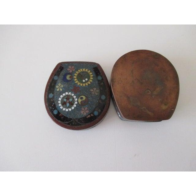 Vintage Petite Cloisonné Trinket Box For Sale In Miami - Image 6 of 6