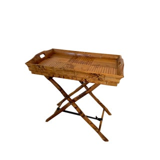Boho Chic Bamboo Tray Table by One King's Lane For Sale