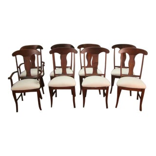 1990s Vintage Solid Birch Dining Chairs- Set of 8 For Sale