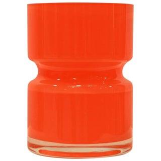Tangerine Orange Glass Vase For Sale