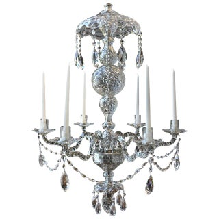 19th Century Irish Georgian Crystal Chandelier For Sale