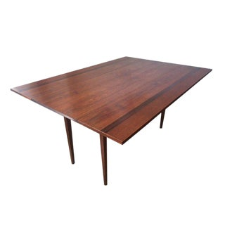 Hibriten Walnut, Mahogany, Rosewood Drop-Leaf Dining Table or Console, C. 1960s For Sale