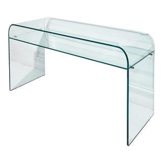 Elmentare Glass Desk For Sale