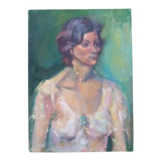Barbara Yeterian Portrait of a Woman Painting For Sale