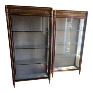 Mid 19th Century French Antique Mahogany Display Cabinets - a Pair For Sale