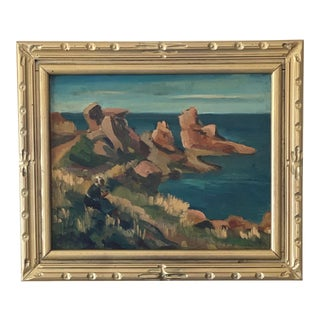 Mid 20th Century Seascape Oil Painting, Framed For Sale