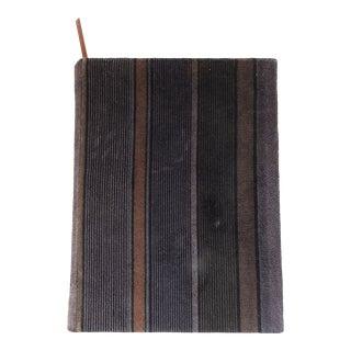 Mid Century Hand Bound Velvet Blank Journal For Sale