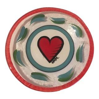 1990s Kosta Boda Heart Plate - Bowl (Signed) For Sale