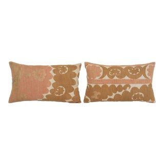 Vintage Embroidered Suzani Pillow - Set of Two For Sale