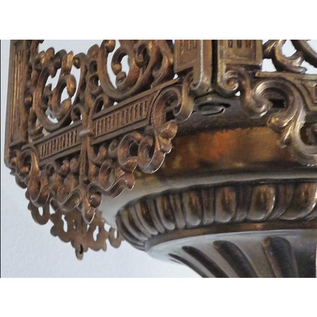 Traditional Vintage Ornate Brass Lantern For Sale - Image 3 of 4