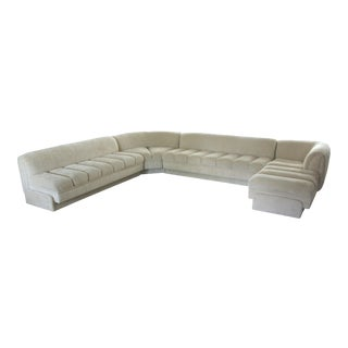 Vladimir Kagan Attributed Directional Sectional Sofa For Sale