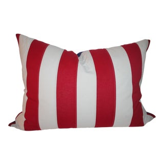 Monumental Double Sided American Flag Pillow For Sale