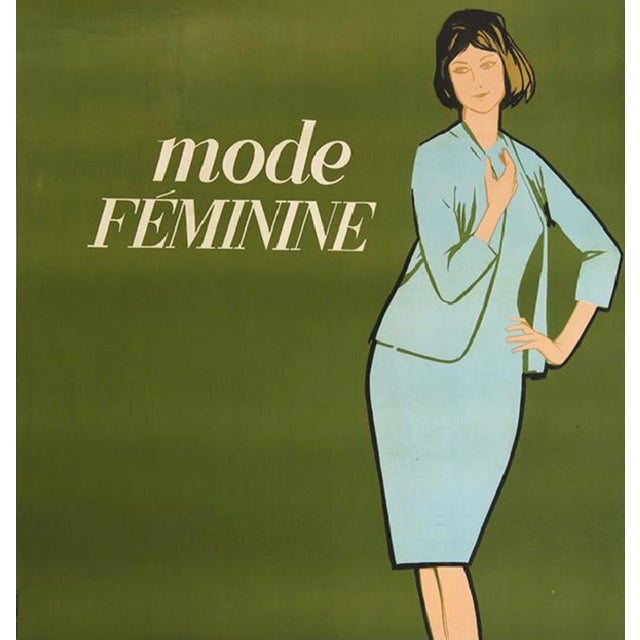 La Mode Feminine Lithograph in Colors by Avenir Publicite France (1960) - Image 3 of 3