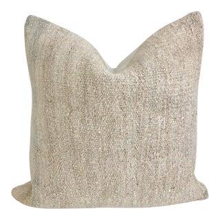 Turkish Hemp Pillow 23 X 23 For Sale