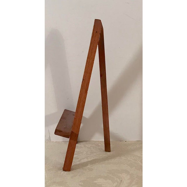 Mid-Century Modern Modern Wooden Mini-Easels - a Pair For Sale - Image 3 of 9