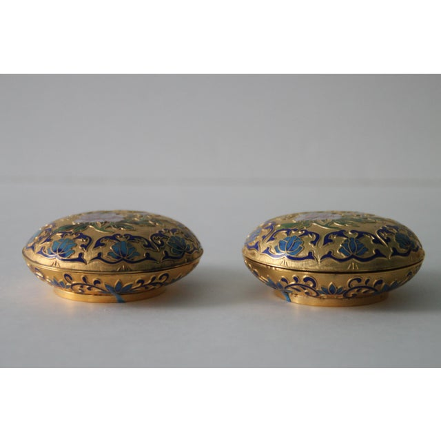 Gilt Enamel Boxes - A Pair - Image 4 of 6