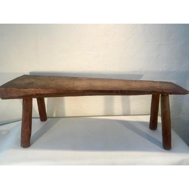 Bauhaus Antique Primitive Live Edge Coffee Table For Sale - Image 3 of 11
