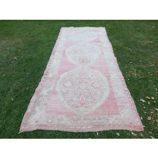 Vintage Turkish Oushak Hand-Knotted Runner Rug 5′3″ × 12′2″ Preview