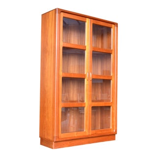 1960's Drylund Teak China Cabinet For Sale