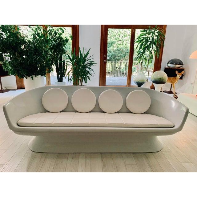 Mid-Century Modern Chromcraft Fiberglass Shell Sofa For Sale - Image 3 of 5