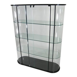 1960s Art Deco Pace Collection Glass Cabinet For Sale