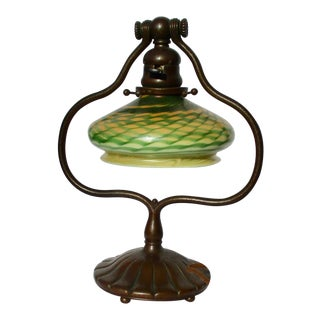 Tiffany & Co. Bronze Lamp and Matching Shade For Sale