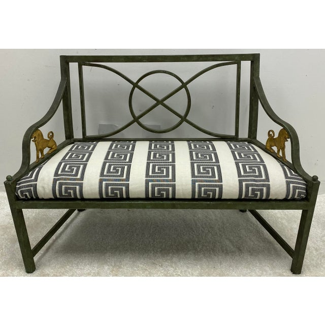 1970s Pair of Neo-Classical Style Benches / Settees For Sale - Image 5 of 12