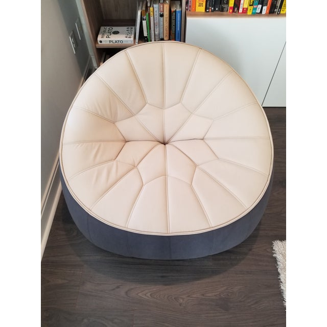 Ligne Roset Ottoman Armchair For Sale In Charlotte - Image 6 of 7