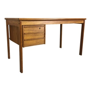 Danish Modern Teak Desk With Hidden Compartments by Peter Loving Nielsen For Sale