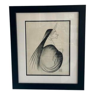 Signed Al Hirschfeld Nun Engraving For Sale