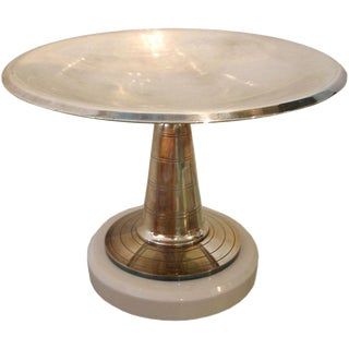 French Art Deco Pedestal Dish/ Bowl/ Vessel For Sale