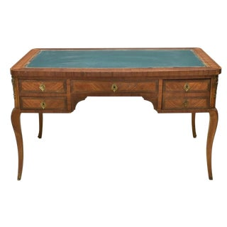 1920s French Louis XVI Bureau Plat Writing Desk For Sale