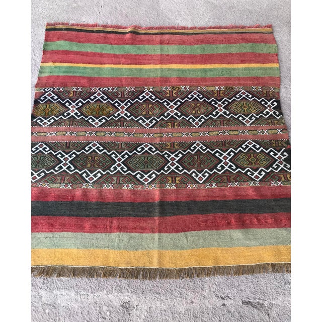 Red 1930s Turkish Anatolian Kilim Rug For Sale - Image 8 of 9