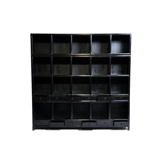 Impressive Chinese Display Cabinet With Twelve Drawers For Sale - Image 4 of 13