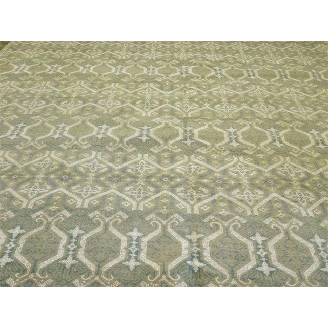 Wool Silk Rugs Contemporary: Custom Hand Knotted Contemporary Wool And Silk Indian Rug
