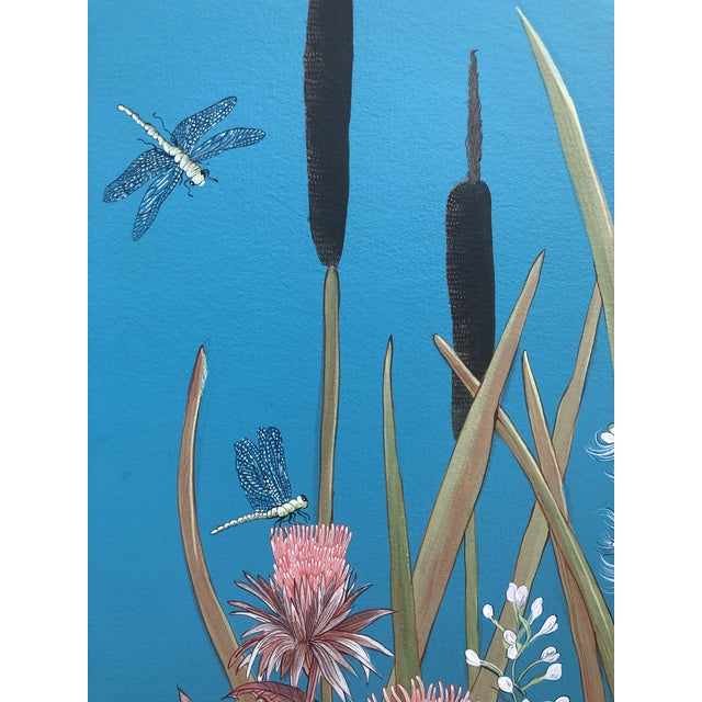 """2020s """"Nothing to Egret"""" Modern Chinoiserie Painting by Allison Cosmos For Sale - Image 5 of 9"""