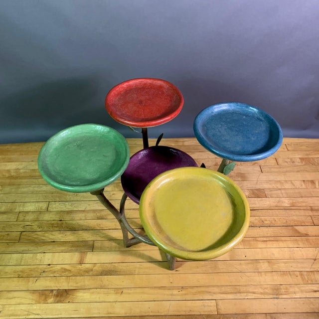 French French Artist Designed Polychrome Resin Plant Stand For Sale - Image 3 of 11