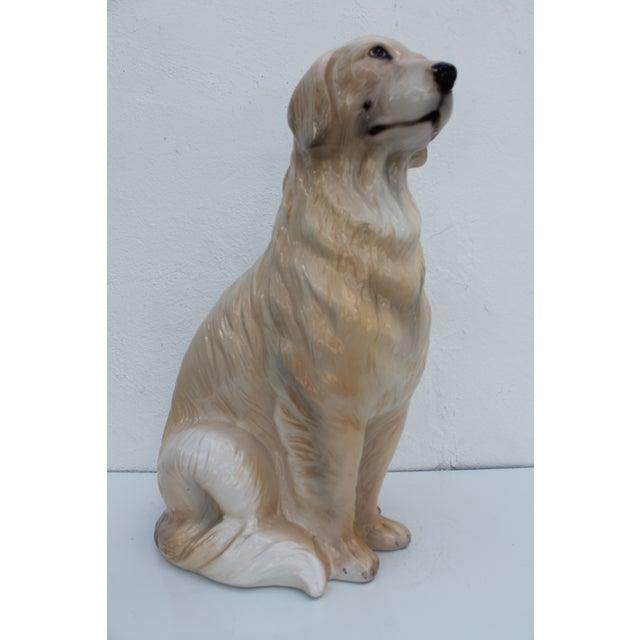 Italian Ceramic Dog Statue - Image 3 of 7
