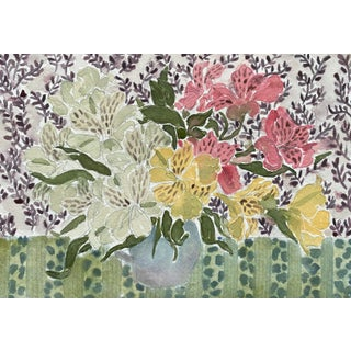 """""""7.13.2021"""" Contemporary Floral Still Life Watercolor Painting by Tara Gill For Sale"""