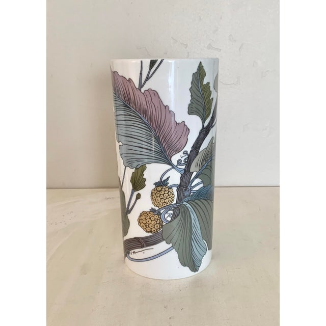 Late 20th Century Rosenthal Germany Studio Line Large Gilt Botanical Vase For Sale - Image 5 of 10