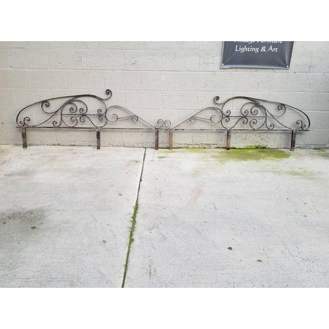 Metal Architectural Iron Panels - a Pair For Sale - Image 7 of 10